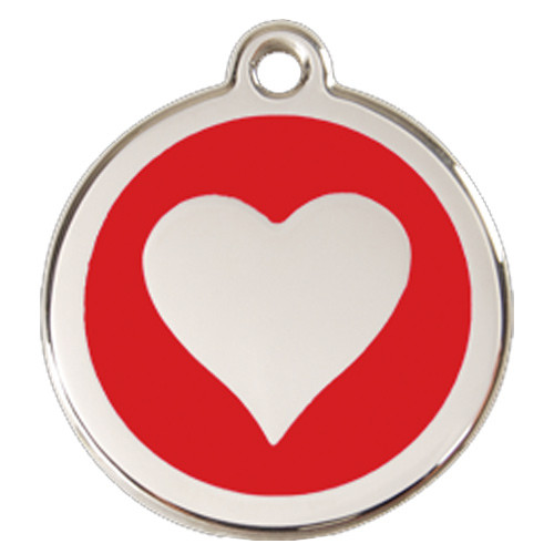 Heart Dog ID Tag, Red