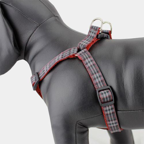 Plaid Step-in Dog Harness, Pride of Scotland Tartan, adjustable