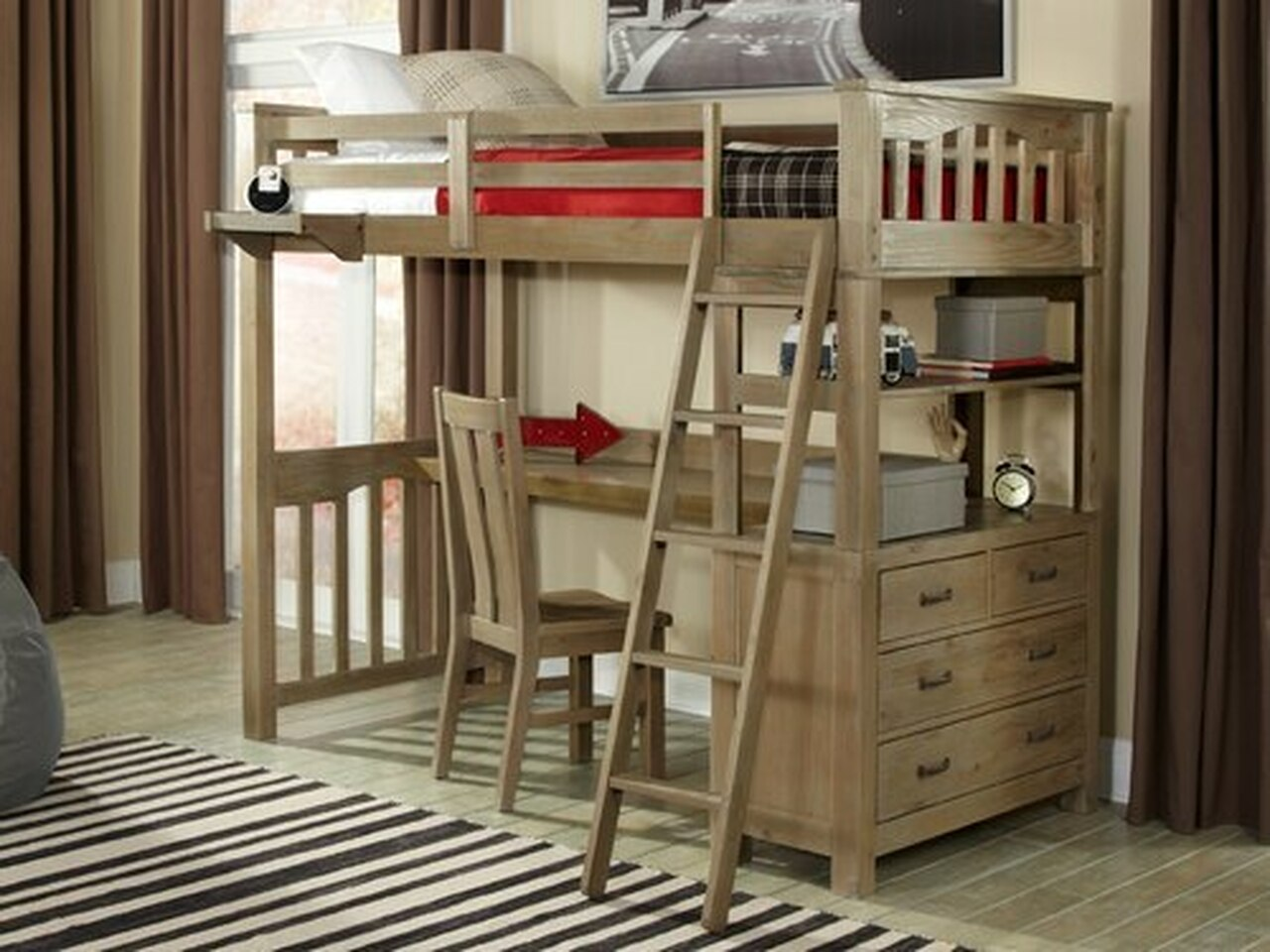 Picture of: Loft Beds Kids Teen Furniture Bedroom Source
