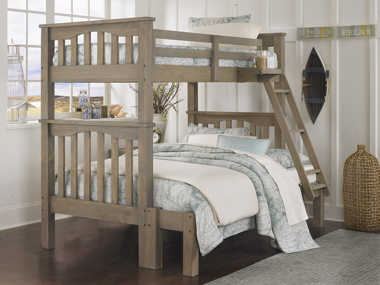 Picture of: Seaview Bunk Bed Twin Full Driftwood Bedroom Source