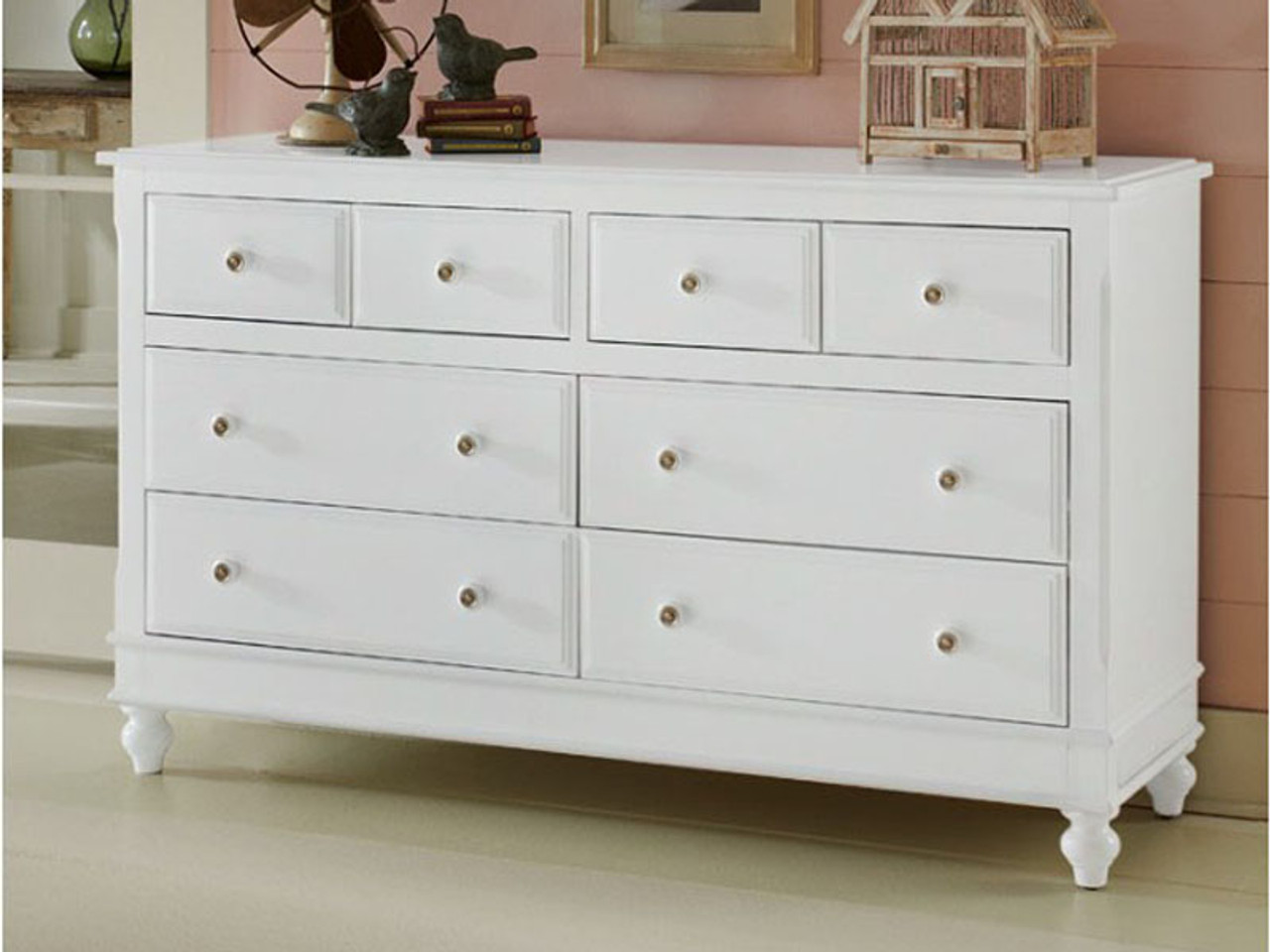 Lakeview 8 Drawer Dresser - White