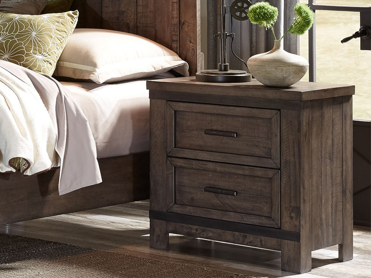 Farmhouse Wide Night Stand Bedroom Source