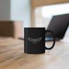 Flying Owl Black Mug - 11oz
