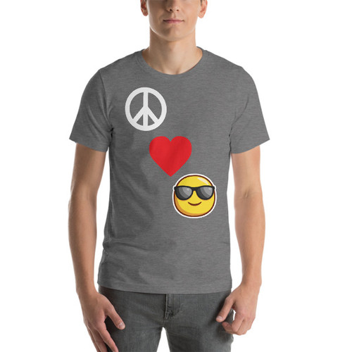Peace, Love and Happiness Short-Sleeve T-Shirt