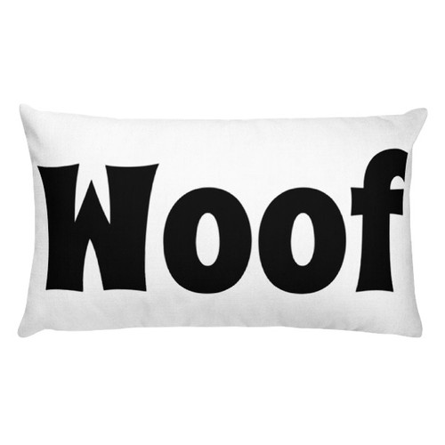 Woof Rectangular Pillow