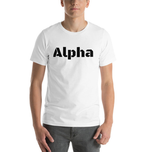 Alpha black print Short-Sleeve T-Shirt