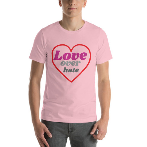 LOVE over hate Short-Sleeve T-Shirt