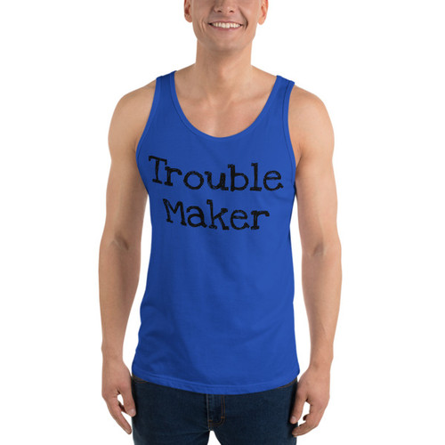 Trouble Maker (black print) Tank Top