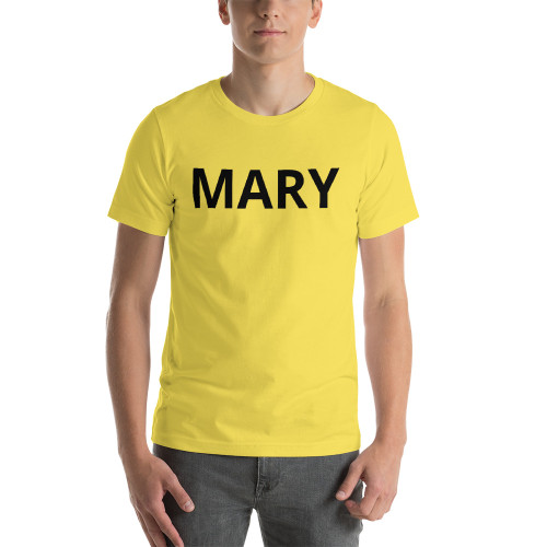 MARY in black print Short-Sleeve T-Shirt
