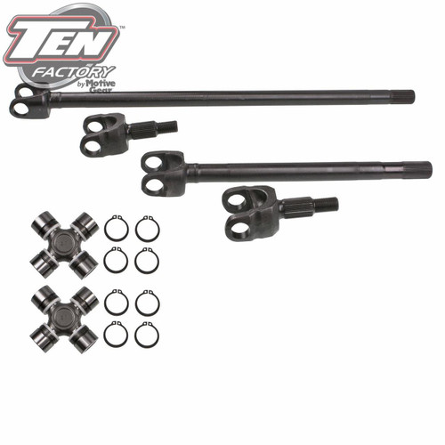 Ten Factory JK Front Dana 30 Chromoly 30-Spline Axle Kit