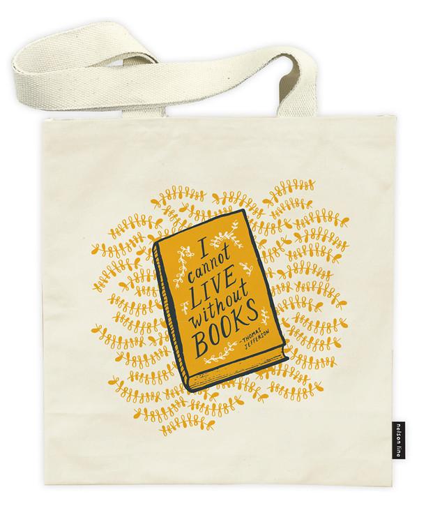 QUT03 - BOOKS TOTE BAG