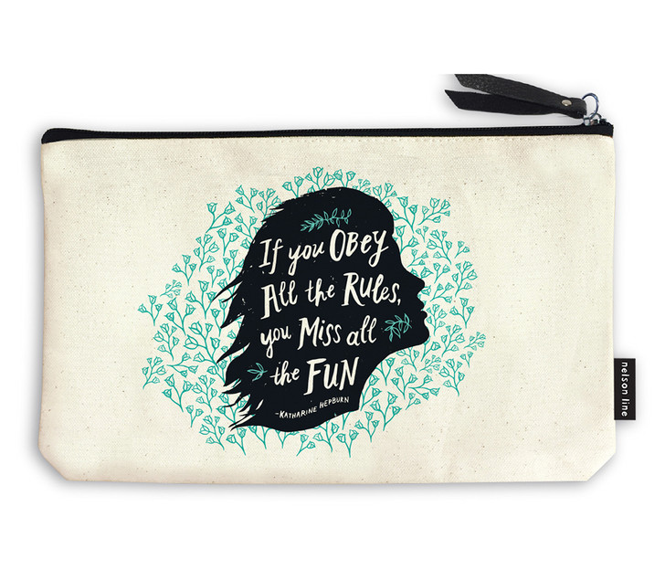 QUZP01 - OBEY THE RULES ZIPPER POUCH