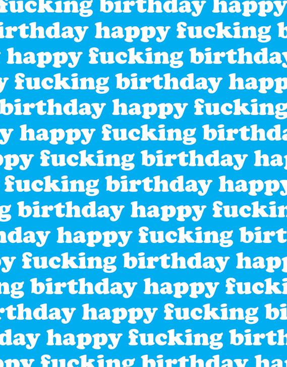 HFB - HAPPY FUCKING BIRTHDAY GIFTWRAP