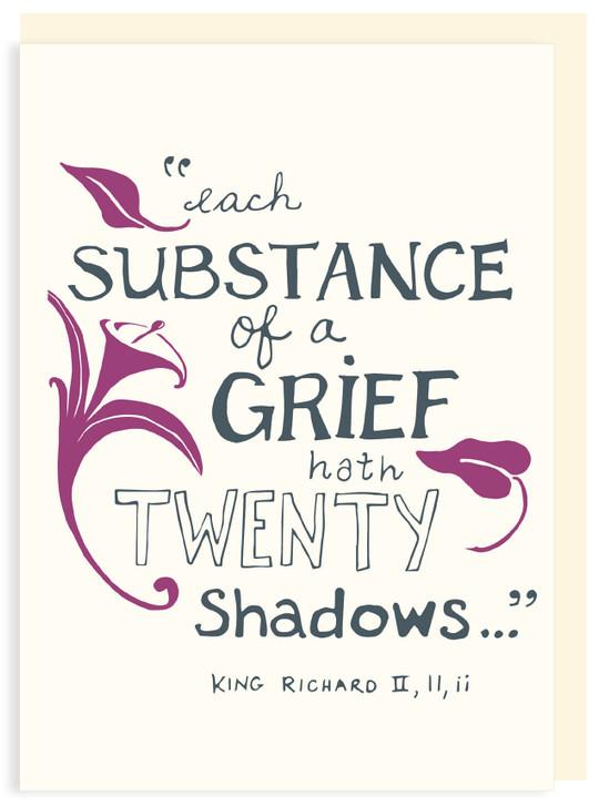 SHC18 - SUBSTANCE OF A GRIEF