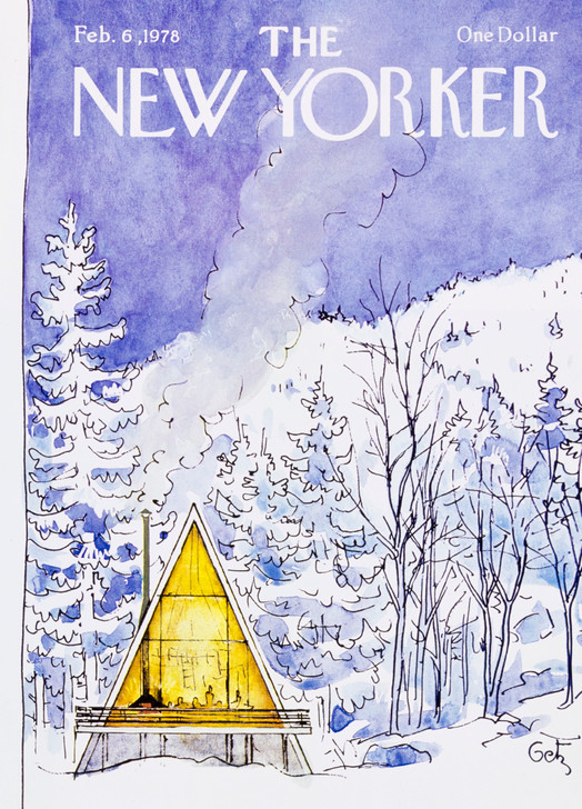 NYVX064 - Snowy Scene with A-frame