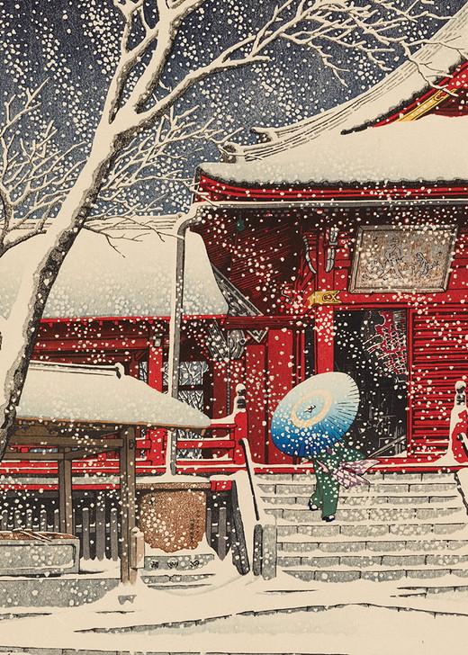 NMX01 - KAWASE HASUI, SNOW AT KIYOMIZU HALL, UENO
