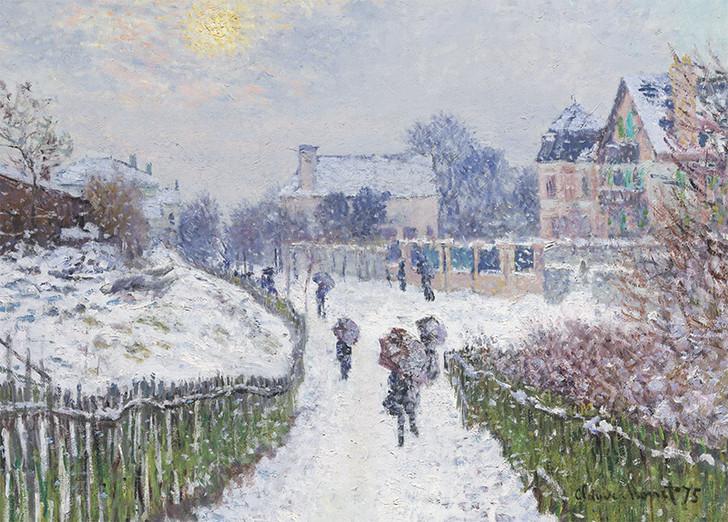 NMX19 - CLAUDE MONET, Boulevard Saint-Denis, Argenteuil, in Winter