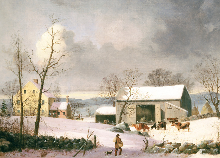 NMX30 - GEORGE HENRY DURRIE, WINTER IN THE COUNTRY