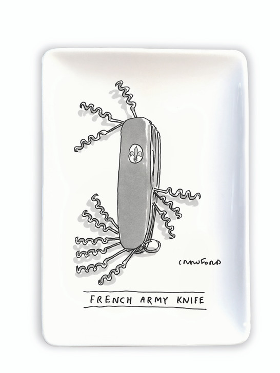NYCTR02 - FRENCH ARMY KNIFE NEW YORKER TRINKET TRAY