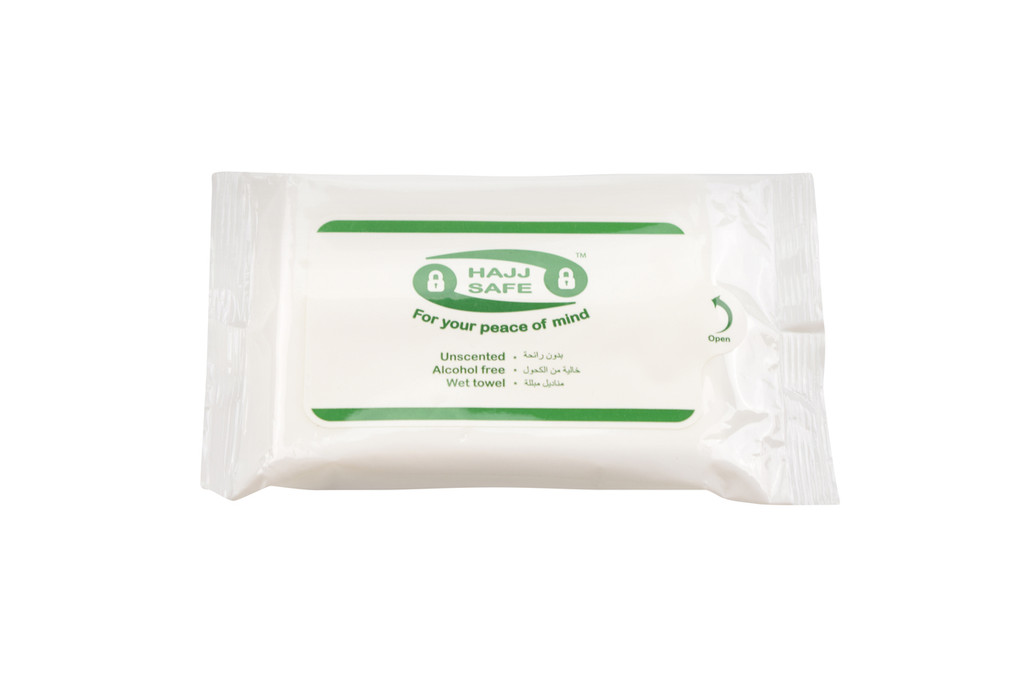 Hajj & Umrah - Unscented Wet Wipes - Hand Towels - Pack of 4