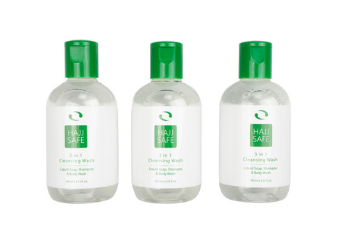 Hajj Safe - Unscented, Alcohol Free, Liquid Soap. Suitable for Hajj or Umrah.