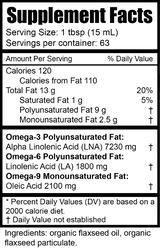 Flax Seed Oil, Organic | 32 fl oz