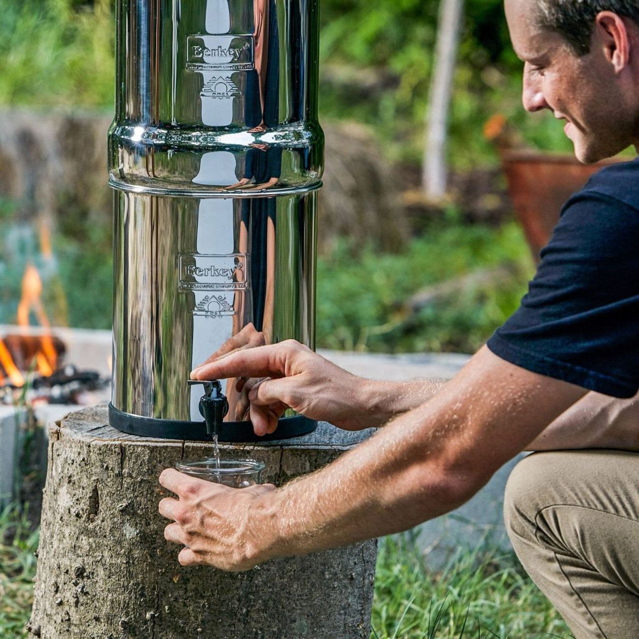 Clean, filtered water at your campsite without using plastic bottles