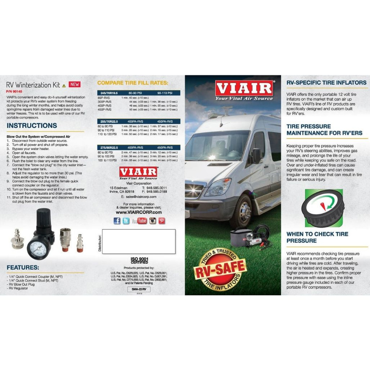 VIAIR Winterization Kit (Compatible with 400 and 450 RVS models ONLY)