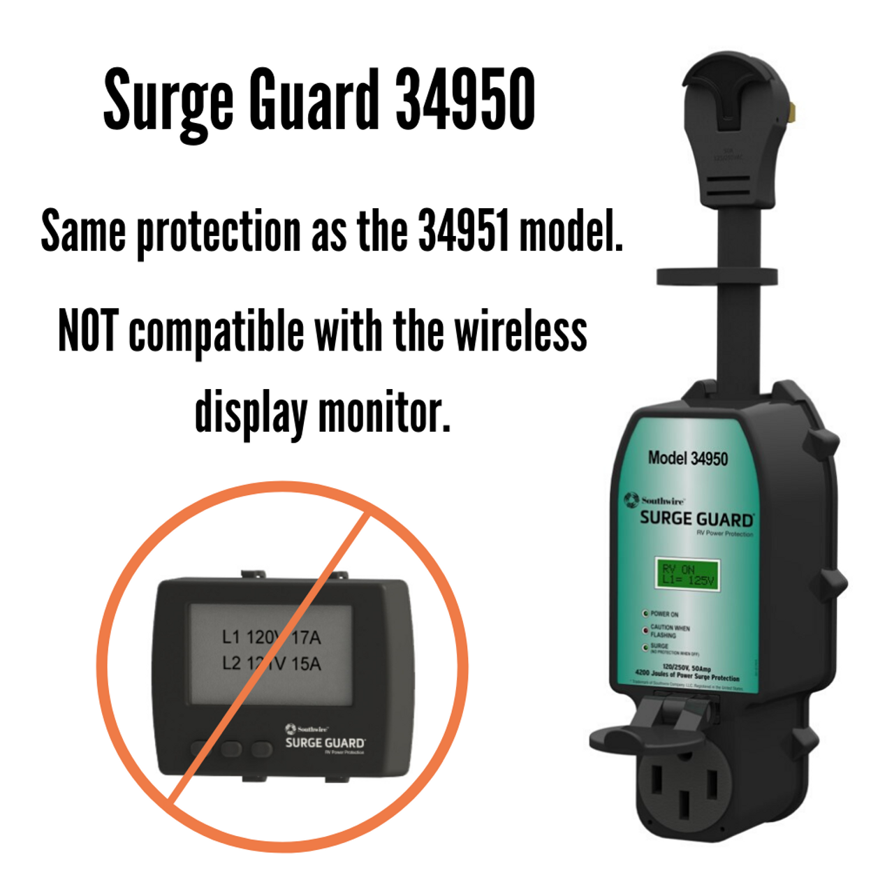 50A Surge Guard Portable Total Electrical Protection 34950