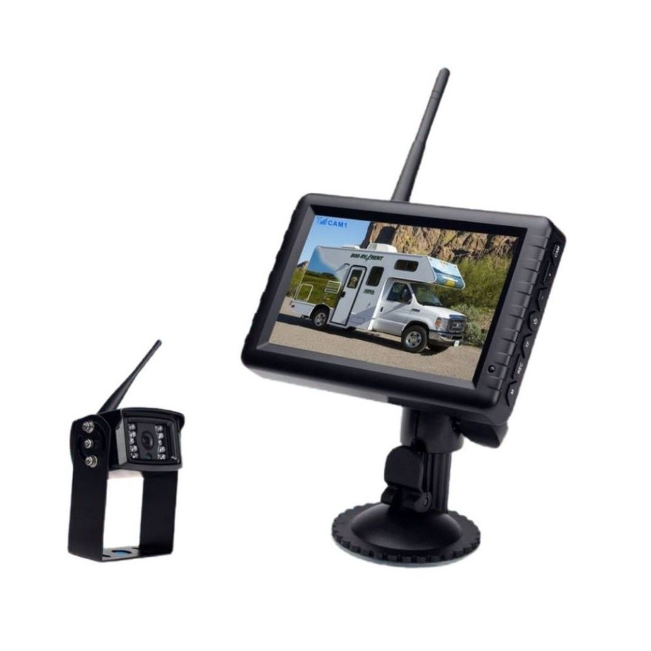 "Vision Works HD Wireless Rearview Observation Kit with Quadview Recordable 5"" Monitor and Camera Kit"