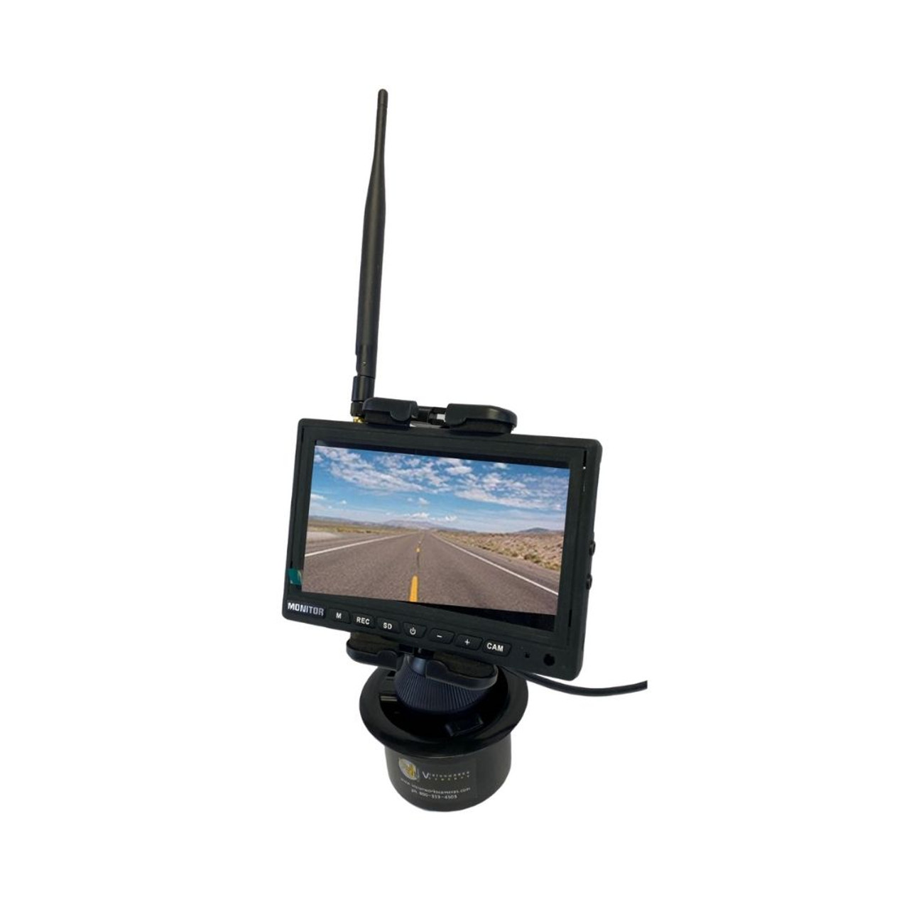 """Vision Works HD  Wireless Rearview Observation Kit with  Quadview Recordable 7"""" Monitor and Camera Kit"""