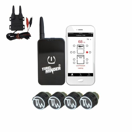 TireMinder TPMS APP with 4 to 12 Sensors