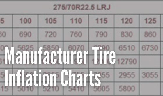 Tire Inflation Charts