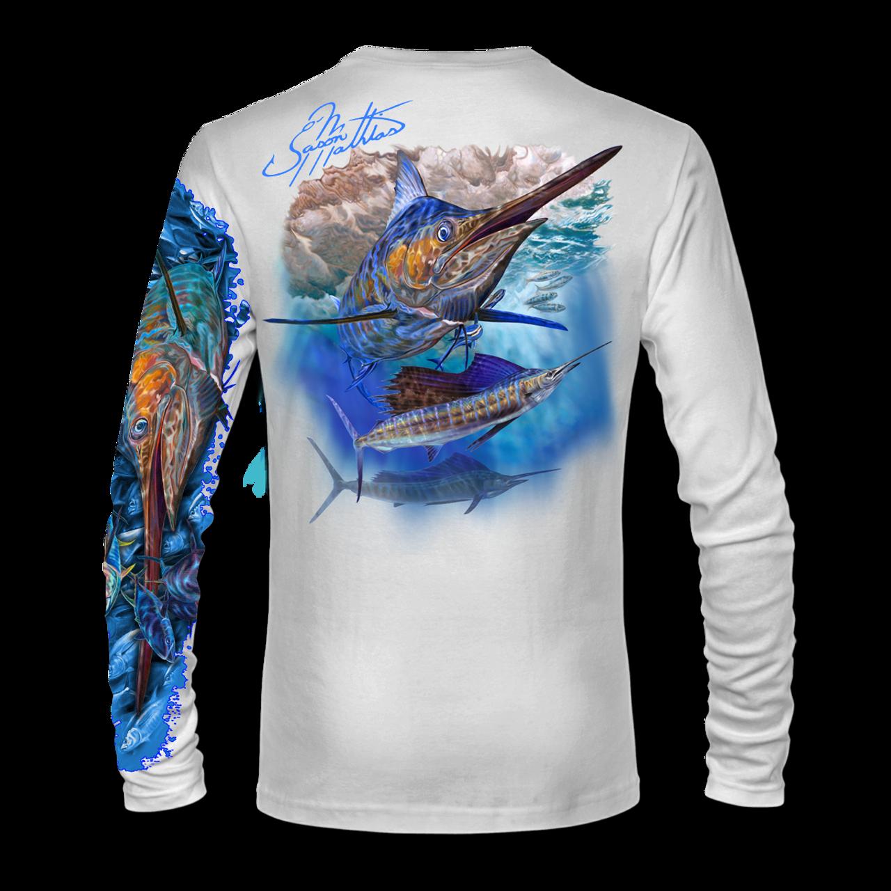 Jason Mathias Blue Marlin Sailfish LS High Performance Long Sleeve T-Shirt