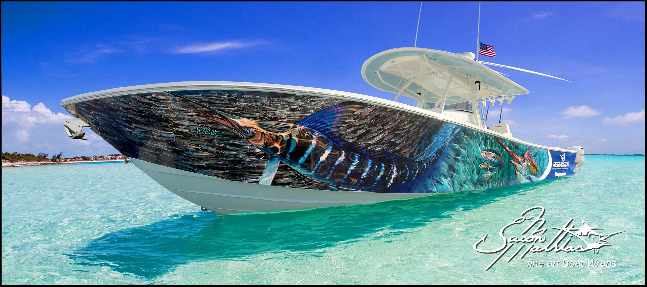 Boat Wrap Designs Art Fishing Sportfish Gamefish Jason Mathias