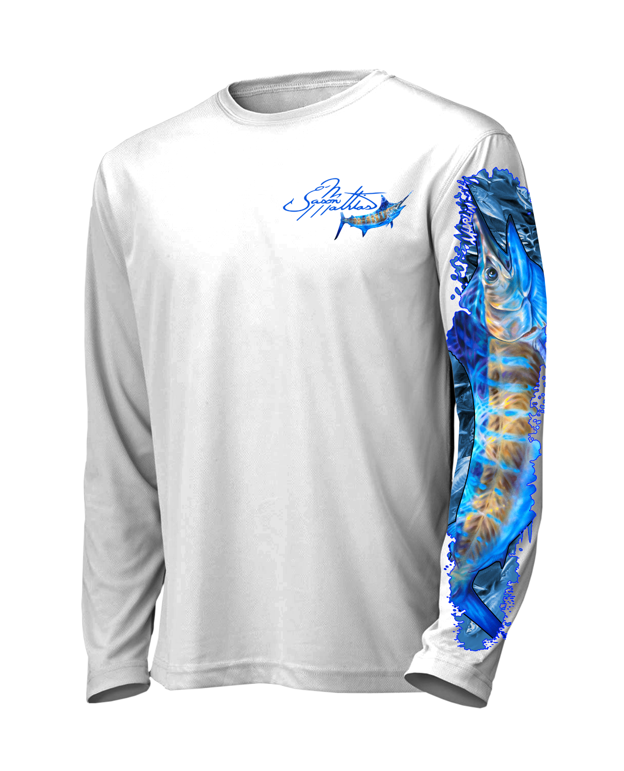blue-marlin-it-white-front-shirt-jason-mathias-apparel-gear-fishing-gamefish-art-sportfish-art-tee-shirt-t-shirt-clothing.png