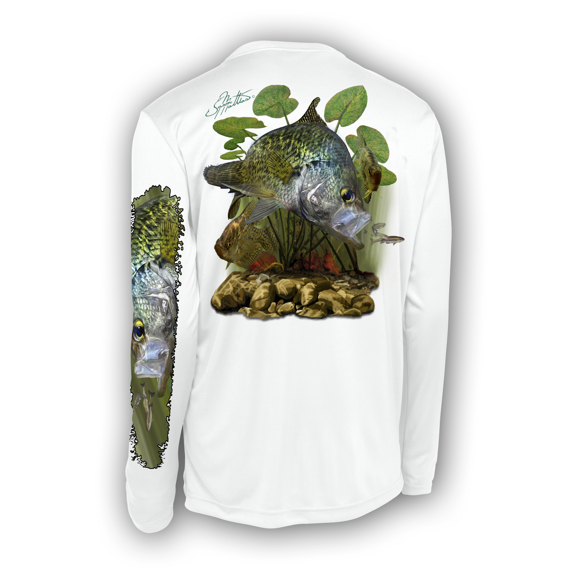 jason-mathias-womans-black-crappie-high-perforamce-t-shirt-desing-on-white.png