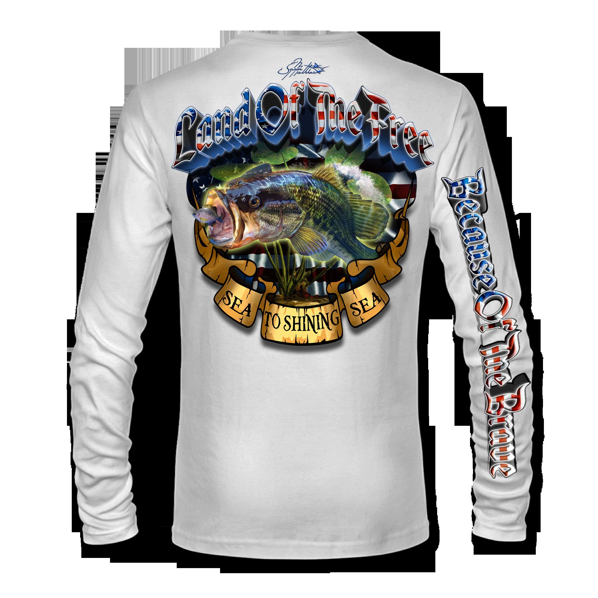 land-of-the-free-because-of-the-brave-sea-to-shining-sea-american-flag-patriotic-jason-mathias-art-shirt-bass-fishing-white.png