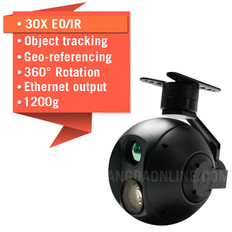 Eagle Eye-30IE-360 30X EO/IR Dual Sensor Drone Zoom Camera With 360 Degree Rotation