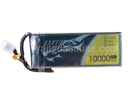 Gens Tattu 10000mAh 14.8V 25C 4S1P Lipo Battery Pack Without Plug