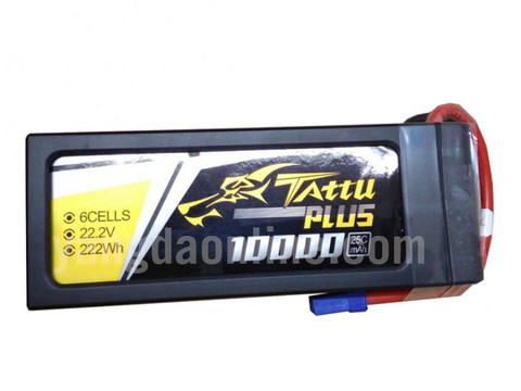 Gens Tattu Plus 10000mAh 22.2V 25C 6S1P Lipo Smart Battery Pack With EC5 Plug