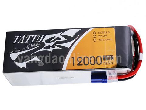 Gens Tattu 12000mAh 6S1P 15C Lipo Battery Pack With EC5 Plug