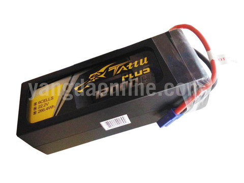 Gens Tattu Plus 12000mAh 22.2V 15C 6S1P Lipo Smart Battery Pack With EC5 Plug