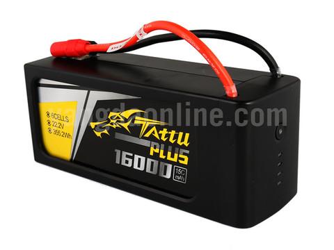 Gens Tattu Plus 16000mAh 6S1P 15C 22.2V Lipo Battery Pack With AS150+XT150 Plug