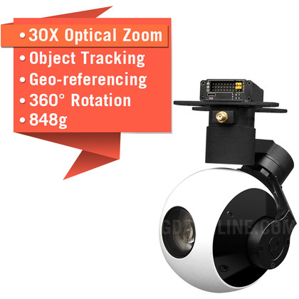 Sky Eye-30HZ-S 1080P 30X Zoom Camera For Drone With Tracking And Geotagging