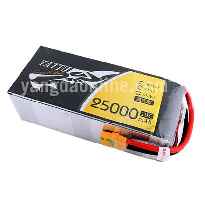 Gens Tattu 25000mAh 6S 10C 22.8V High Voltage Lipo Battery Pack