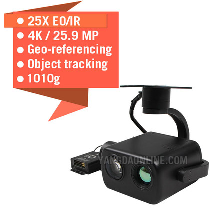 Eagle Eye-25IE 4K EO/IR Dual Sensor Zoom Camera With Georeferencing and Object Tracking