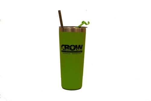 CROW Stainless Steel Tumbler & Straw