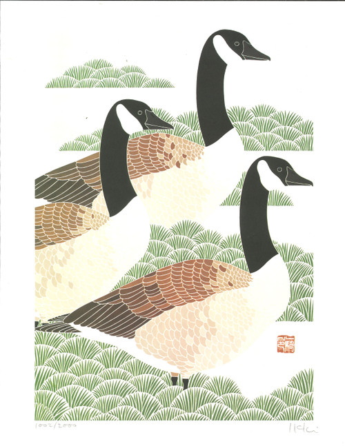 "ONLINE EXCLUSIVE: Signed Ikki Matsumoto Lithograph Print - Snow Geese 14""x10"""