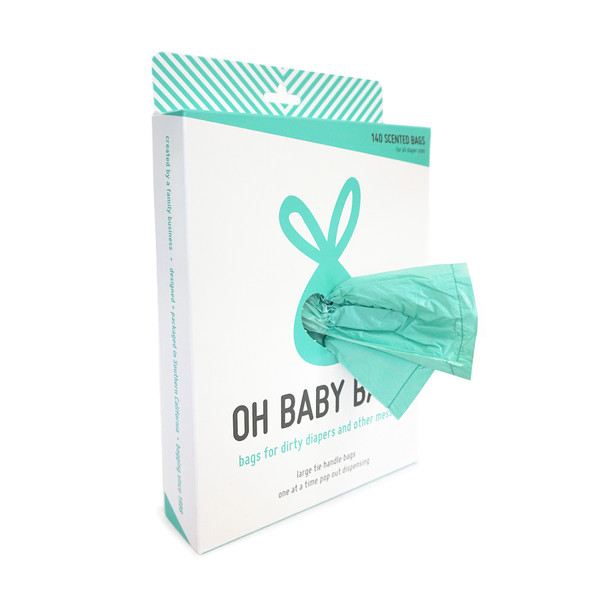 140 Seafoam tie handle bags for dirty diapers